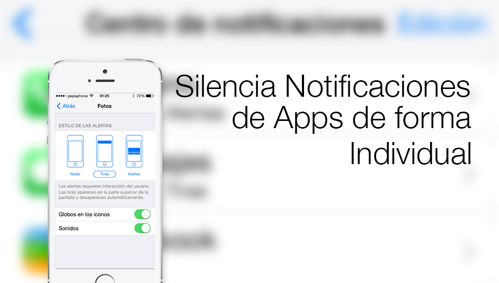 Silnciar Notificaciones Apps