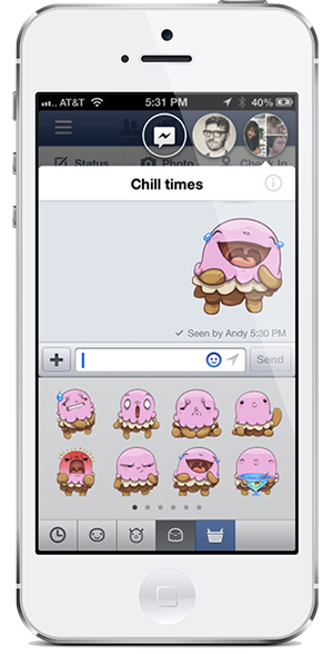 Facebook Sticker Enabler