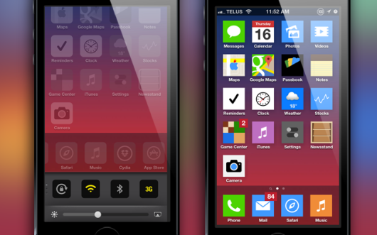 FlatIcons Cydia Tweak Theme