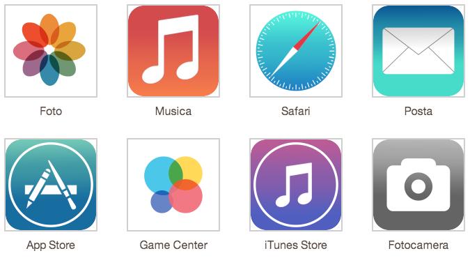 Iconos iOS 7 Concept