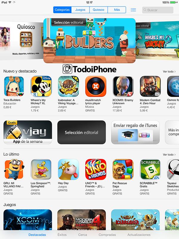 iOS 7 Beta 2 iPad - App Store