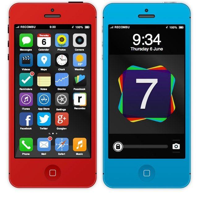 iOS7 iPhone 5S Interactivo