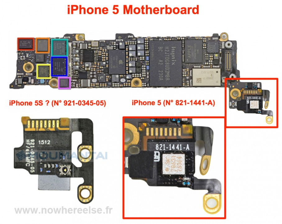 iPhone 5S Mother Board