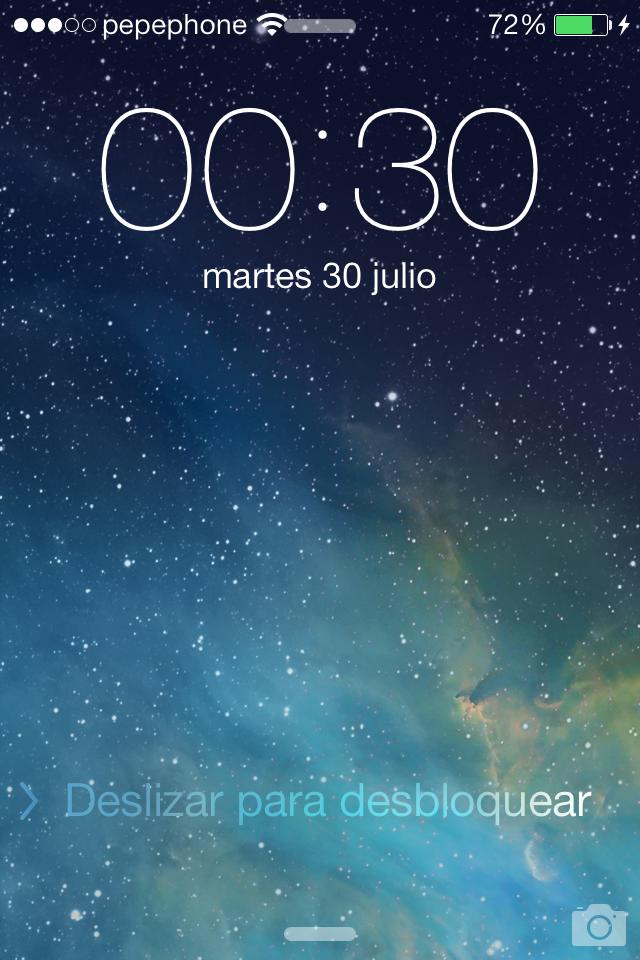 iOS 7 Beta 4 Lockscreen
