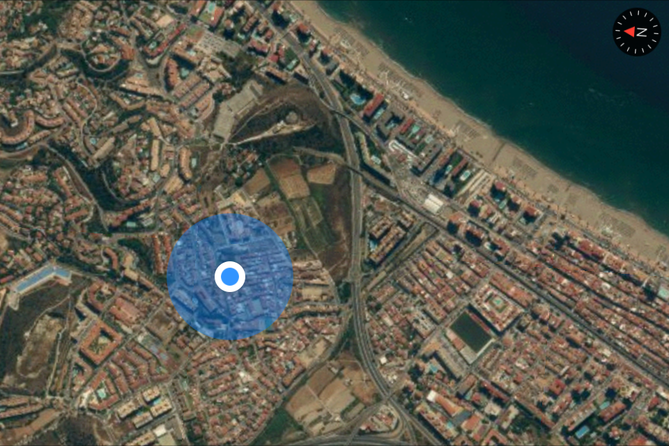 iOS 7 Beta 4 Mapas iPhone Fullscreen