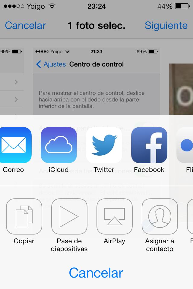 iOS 7 Beta 5 Icono Twitter