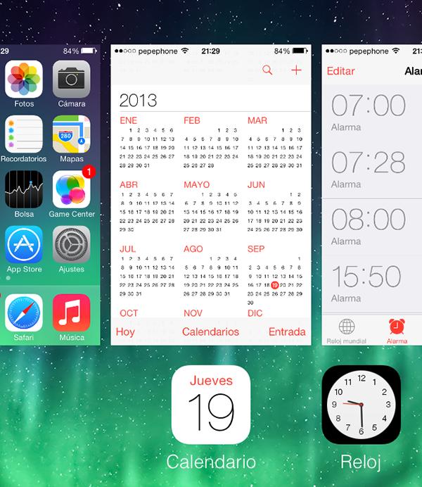 iO7 vs iOS 6 - Novedades de Uso - Multitarea