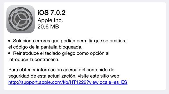 iOS 7.0.2 - iPhone iPod iPad