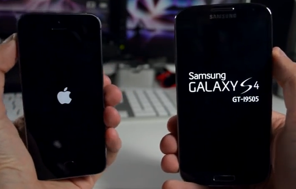 iPhone 5s vs Samsung Galaxy s4 - Test Arranque