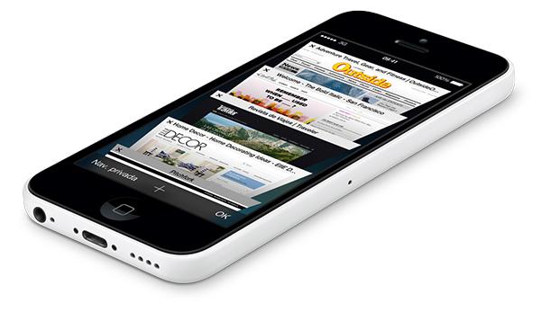 iPhone 5c Safari
