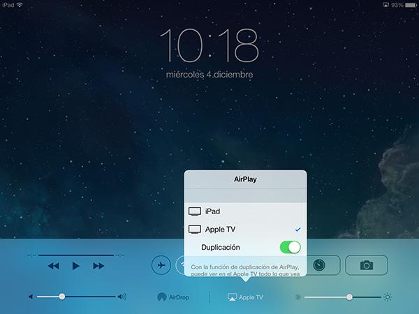 Guia AirPlay - iPad mini Retina