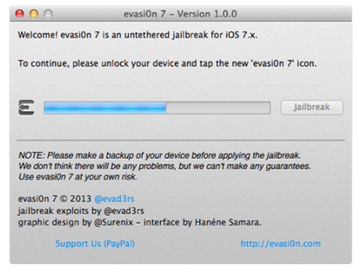 Jailbreak iOS 7 evasi0n7 iPhone 5s