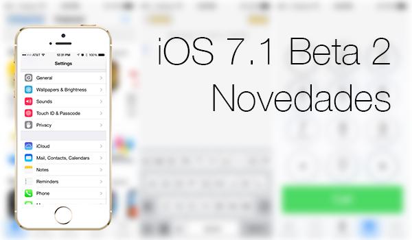 iOS 7.1 Beta 2 Novedades