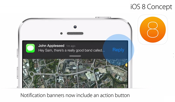 iOS 8 Concepto - Notificaciones Interactivas