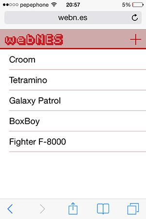 webNES iPhone iPad iOS