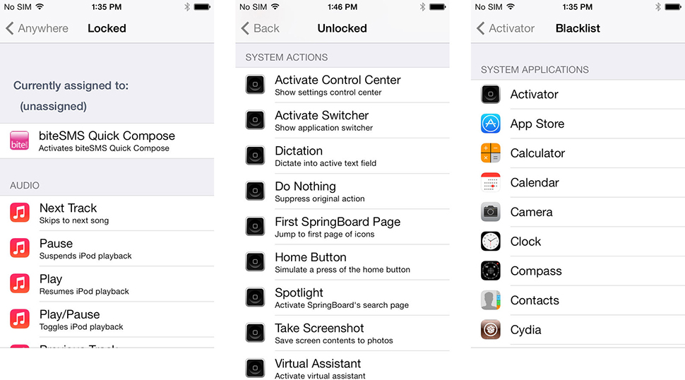 Activator iPhone Tweak