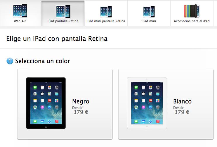 Comprar iPad Pantalla Retina