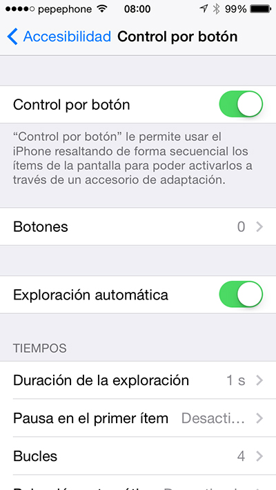 Controlar iPhone Cabeza - Accesibilidad