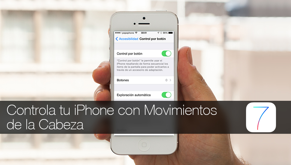 Controlar iPhone Cabeza