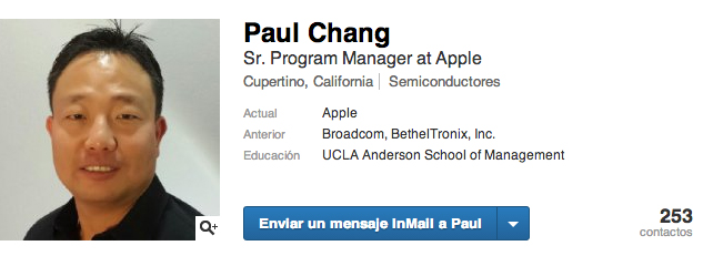 Paul Chang Apple Ingeniero Baseband