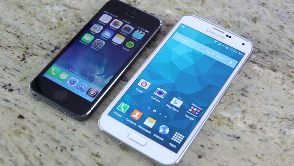 Samsung GS5 iPhone 5s