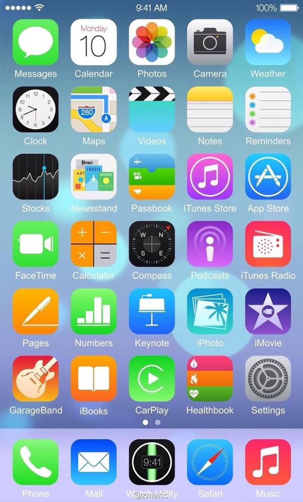 iOS 8 Captura Pantalla iPhone 6 Filtrado