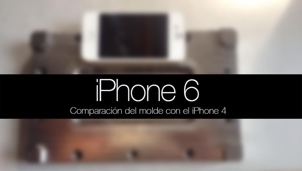 iPhone 6 comparacion molde