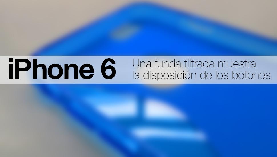 iPhone 6 funda botones
