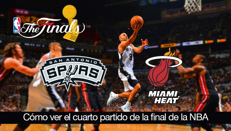 Ver-cuarto-partido-final-NBA-Heat-Spurs