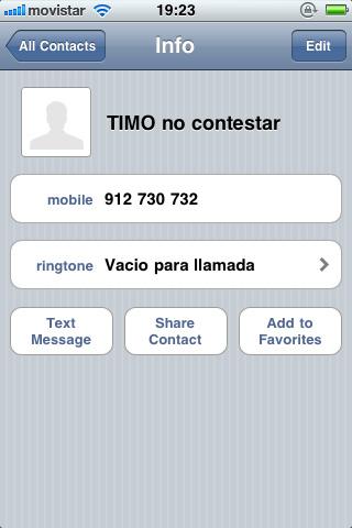 Número bloqueado iPhone