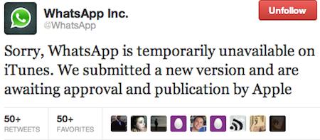No es la primera vez que Whatsapp desaparece de una de las tiendas