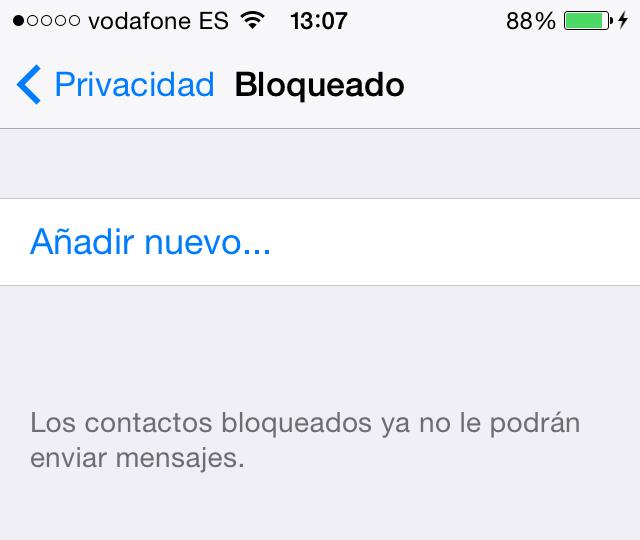 WhatsApp Bloquear Contactos iPhone