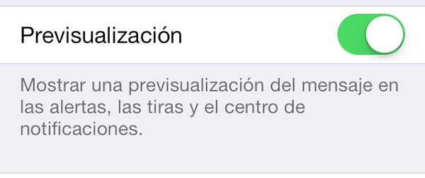 Ocultar Previsualizacion SMS - iMessage iPhone