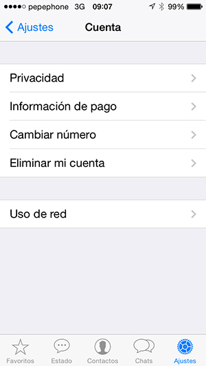 WhatsApp - Cambiar Ultima Vez - screenshot 1