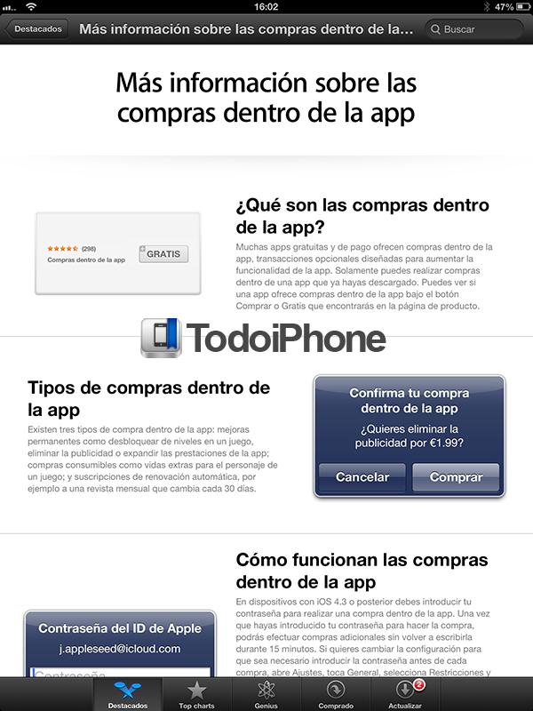 Compras dentro de la App - 2