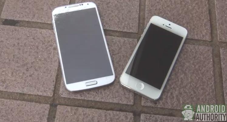 iPhone 5 vs Galaxy S4 Drop Test