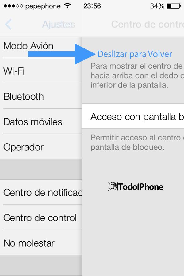 Navegación por Gestos en iPhone, iPod y iPad con iOS 7 Beta - 1