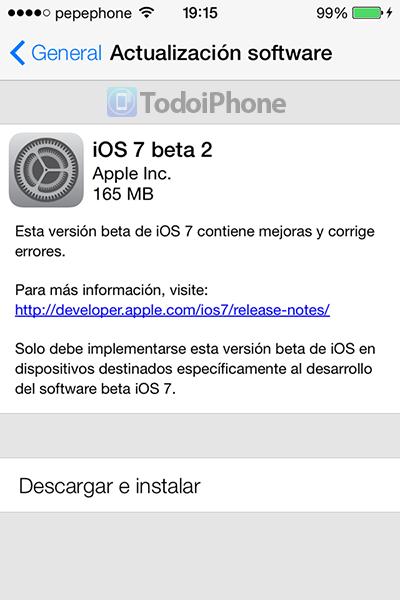 iOS 7 Beta 2 OTA