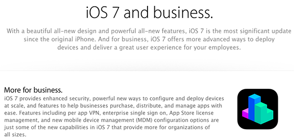 iOS 7 for Business