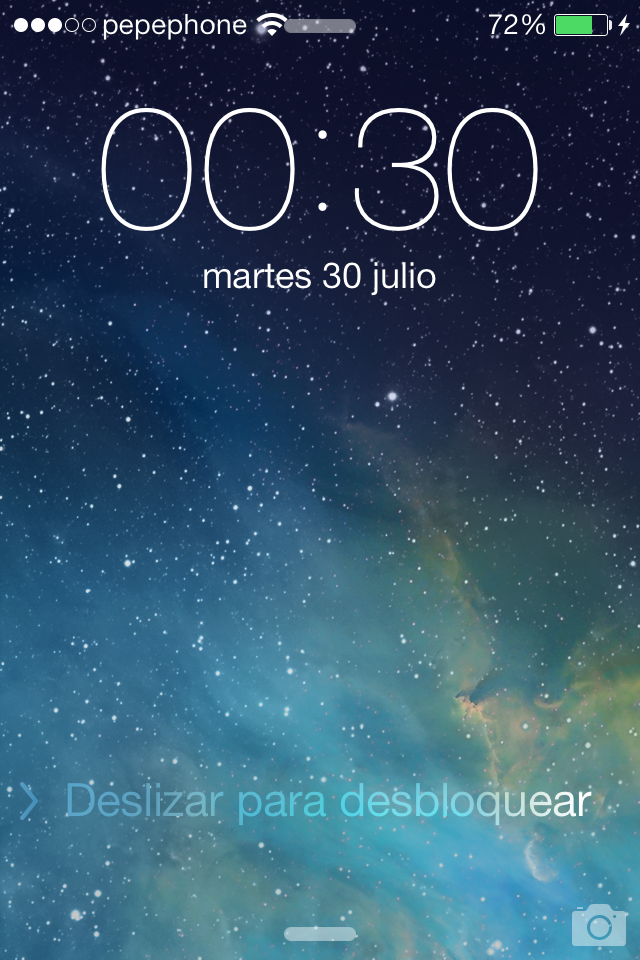 iOS 7 Beta 4 Lockscreen