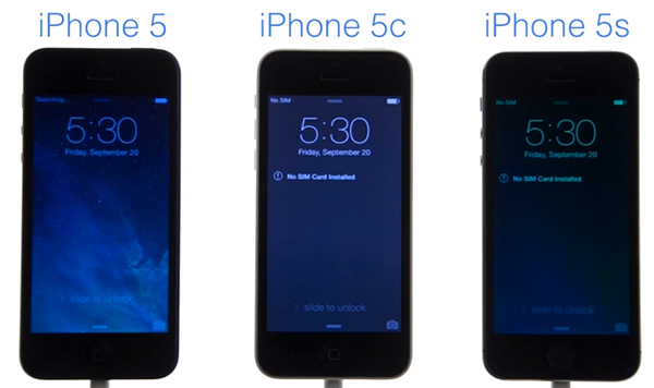 iPhone 5 vs iPhone 5c vs iPhone 5s - test velocidad arranque