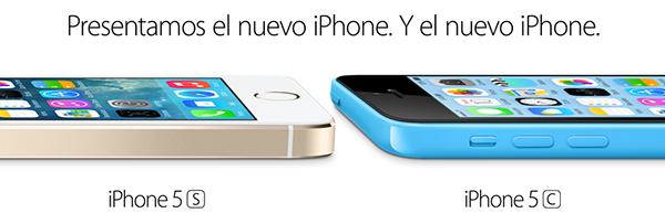 Nuevos iPhone 5s iPhone 5c