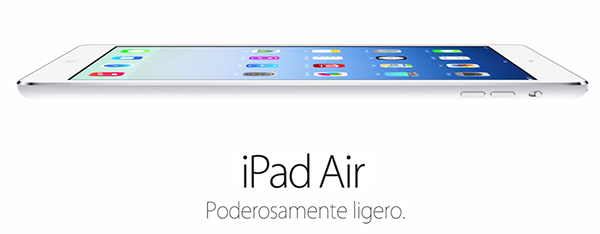 iPad Air - Poderosamente Ligero