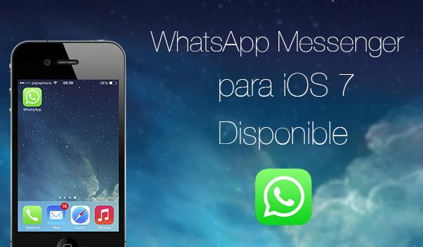 WhatsApp Messeger iOS 7 Disponible