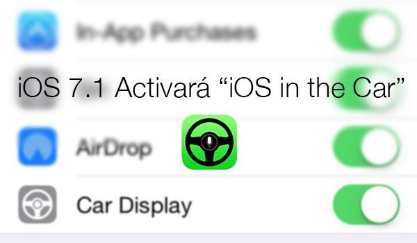 iOS 7.1 - iOS in the Car