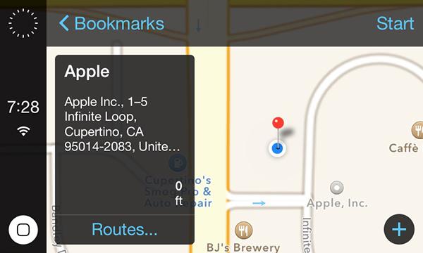 iOS in Car - Maps