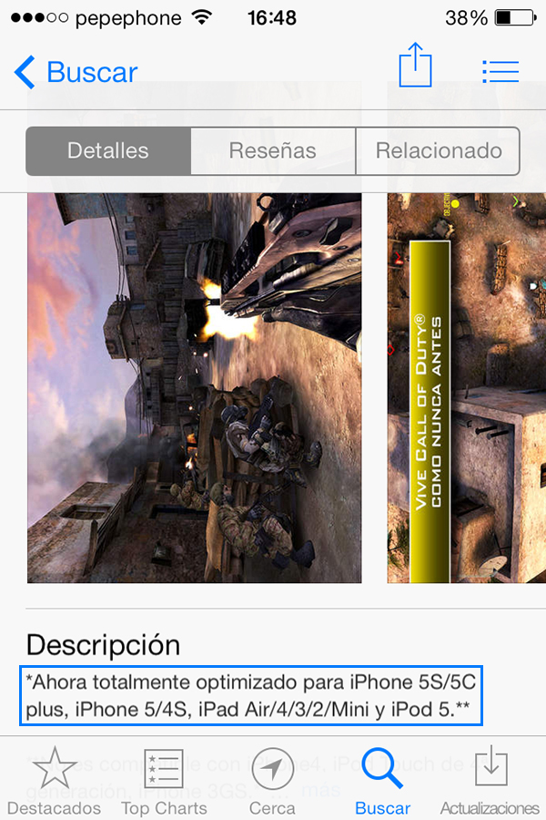 iPhone 5c Plus - App Store iPhone - Call of Duty