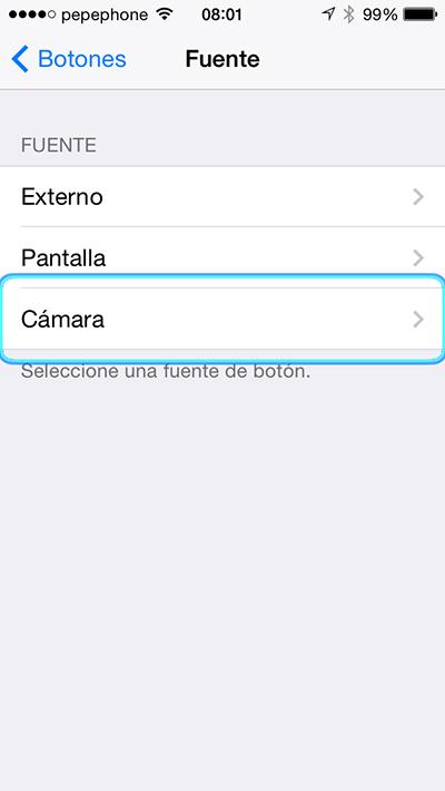 Controlar iPhone Cabeza - Fuentes