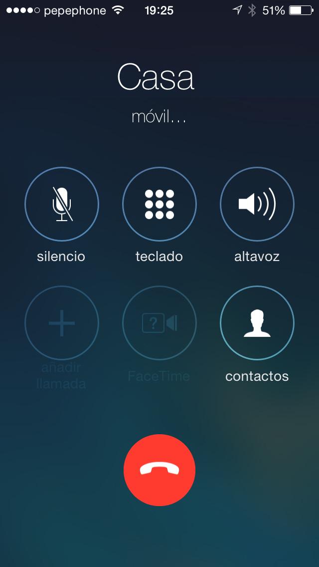 Llamadas iOS 7.1 - screenshot 2
