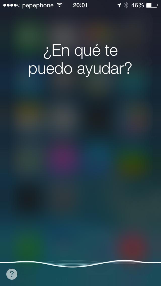 Siri iOS 7.1 - screenshot 1